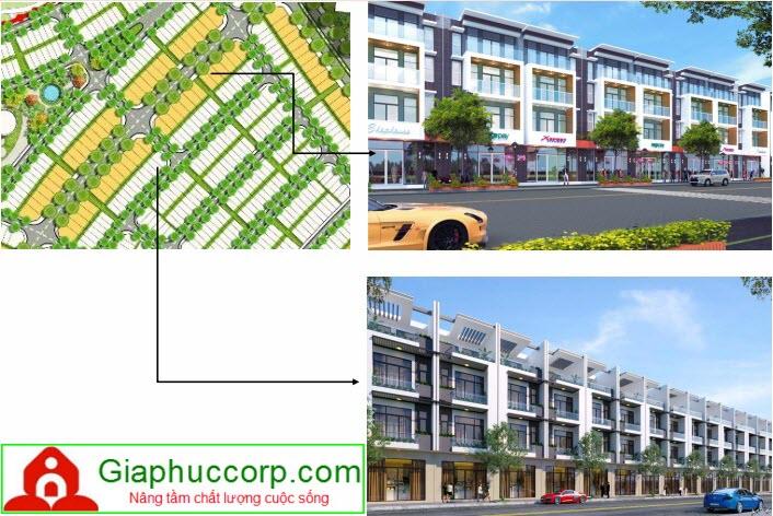 Thiết kế nhà phố Khu Đô Thị Kinh Tế Nhơn Hội