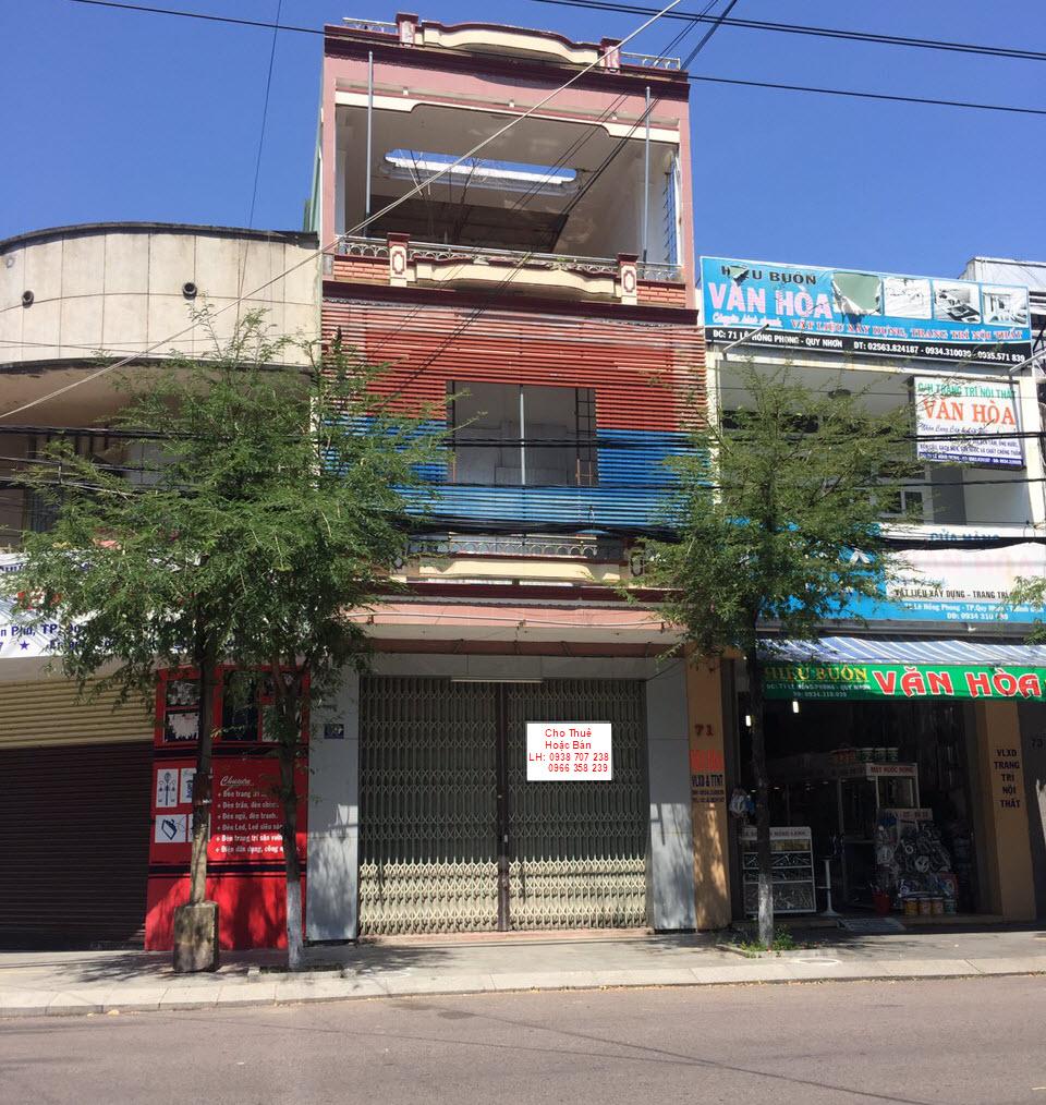 Bán nhà mặt tiền đường Lê Hồng Phong Quy Nhơn
