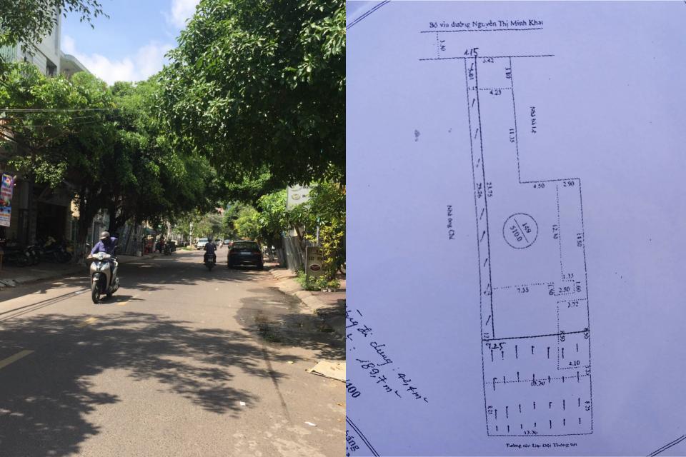 Nhà đất mặt tiền Nguyễn Thị Minh Khai Quy Nhơn